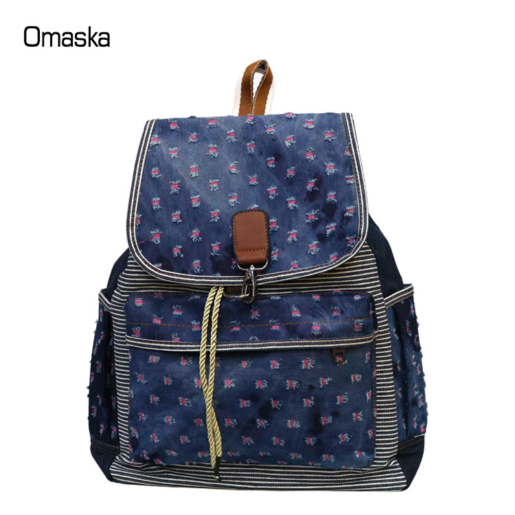 Wholesale durable outdoor double shoulder day pack custom canvas rucksack backpack