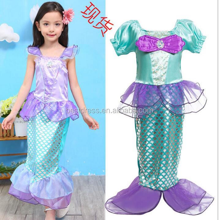 Child Mermaid Princess Party Outfit New Fancy Dress Costume Kids Girls -  Buy Child Mermaid Dress b43ecda70bff