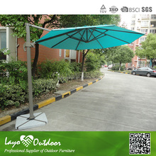 LY Professional OEM factory popular in Europe 3.5m cantilever parasol 3.5m cantilever parasol alum with cross tiles patio cover