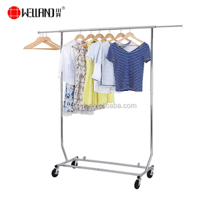 detachable telescopic clothes rack shelf / cloth hanger drying rack for clothes / metal cloth storage rack for clothing