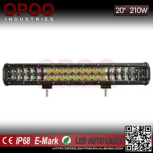 "4wd Silding bracket 20"" 210w offroad bull bar led light bar"