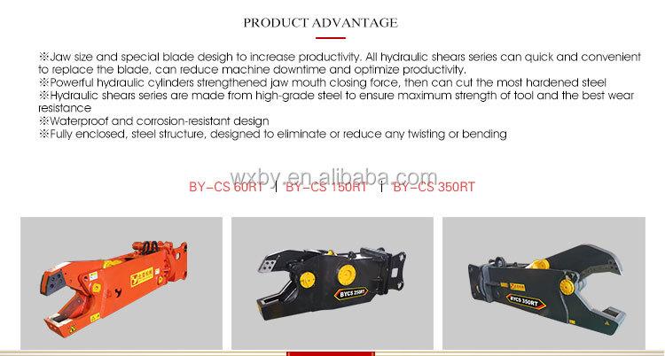 Excavator pulverizer/ concrete crusher/hydraulic steel cutting shear
