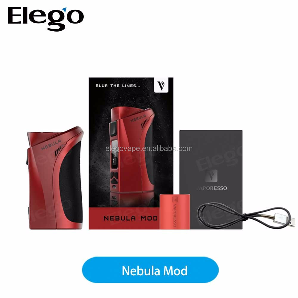 Authentic Vaporesso Nebula TC Box Mod 100W Powered by 26650 or 18650 Battery Firmware Upgradeable 0.69 OLED for 510 Thread Box