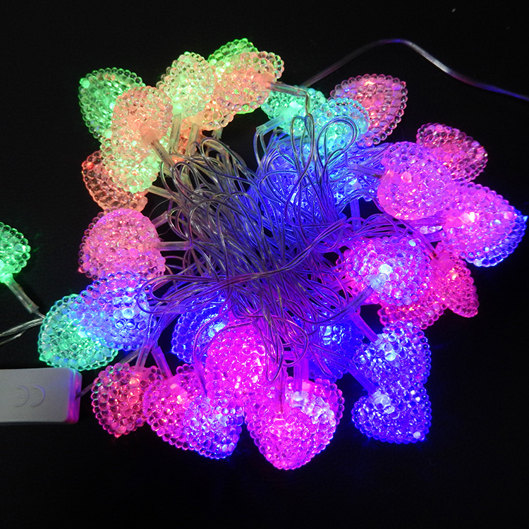 Image result for  5 RGB Heart shape String LED Lights for Diwali Decorations Lightings
