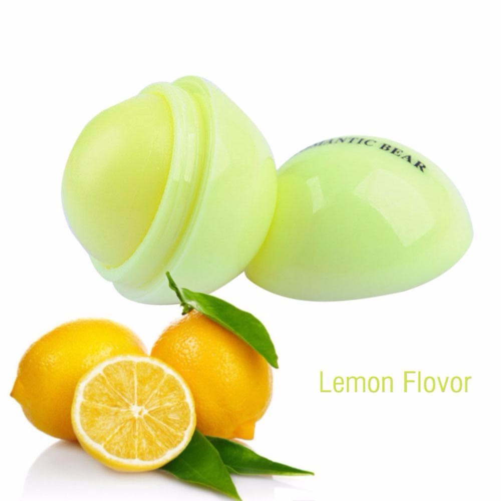 hot selling 6 colors moisturizing fresh fruits flavor cute round ball shape Lip Balm for private label