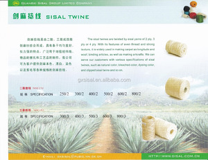 Manufacturer High Quality Sisal Twine, Packing Twine and Sisal Thread