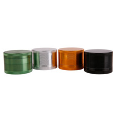 Futeng brand creative design portable zinc grinder 2 Parts Handmade Wholesale Herb Grinder
