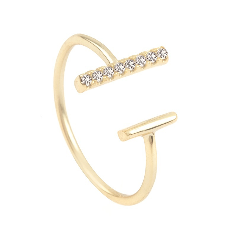 Dainty jewelry open bar 14k gold finger rings design for women with price