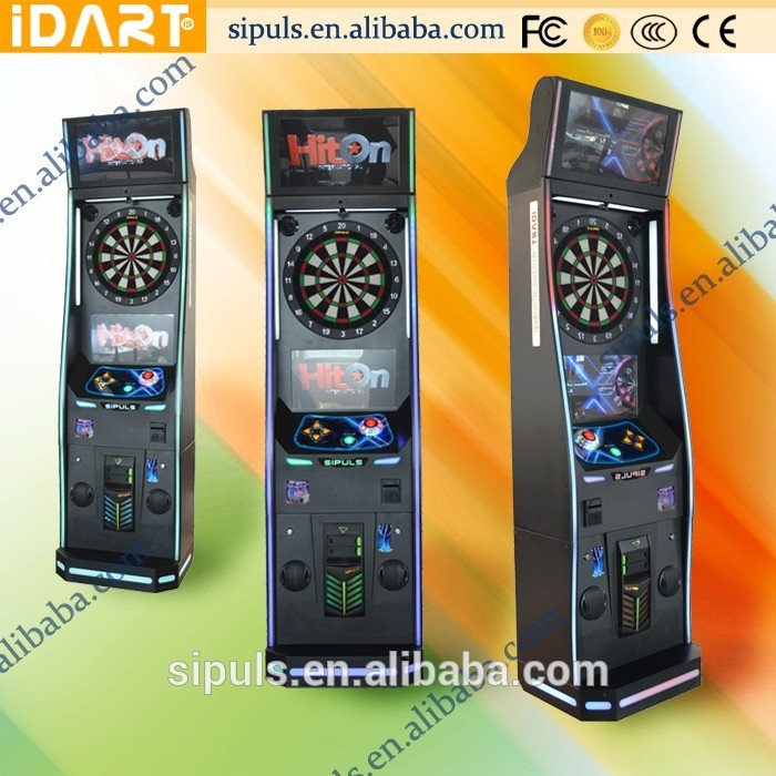 High Quality Wooden Cabinet Intellectual Board Game Shooting Bullseye Dart Machine
