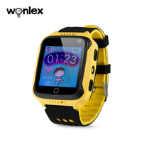 Wonlex Android 4.4 mobile phone smartwatch Kids smart GPS watch with sim card camera