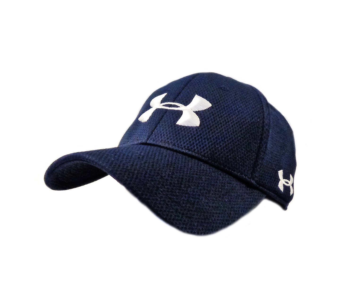 571bbb39685 Get Quotations · NEW Under Armour Performance Heat Gear Navy White Fitted L XL  Hat Cap