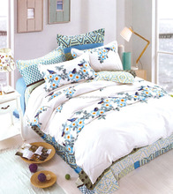 100% cotton pigment printed chinese bedding set bed duvet cover