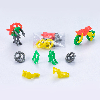 DIY Deformation Motorcycle Robot Self-assembly Toys