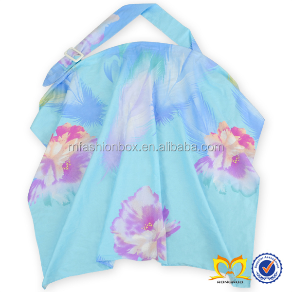 Floral 100% Cotton Printed Mum Breast Feeding Baby Nursing Cover For Breastfeeding