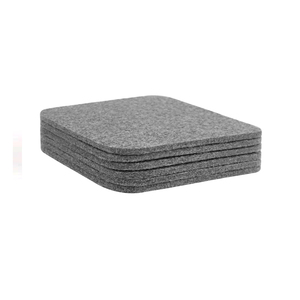 Customized 3 mm tableware Square mats & pads 100% eco-friendly polyester felt glass coaster