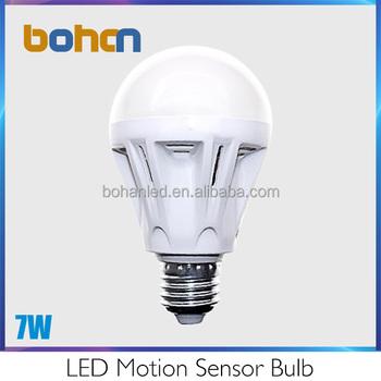 7w E27 220 Volt Dusk To Dawn Interior Motion Sensor Flood Light ...