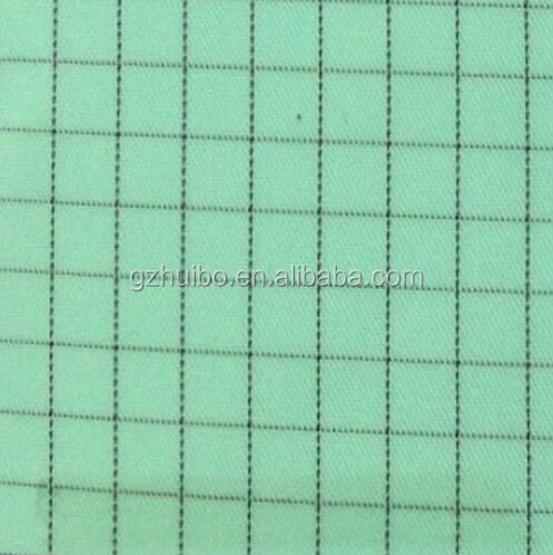Antistatic Raw Material for Garment Used in Clean Room 0.5grid Green Color