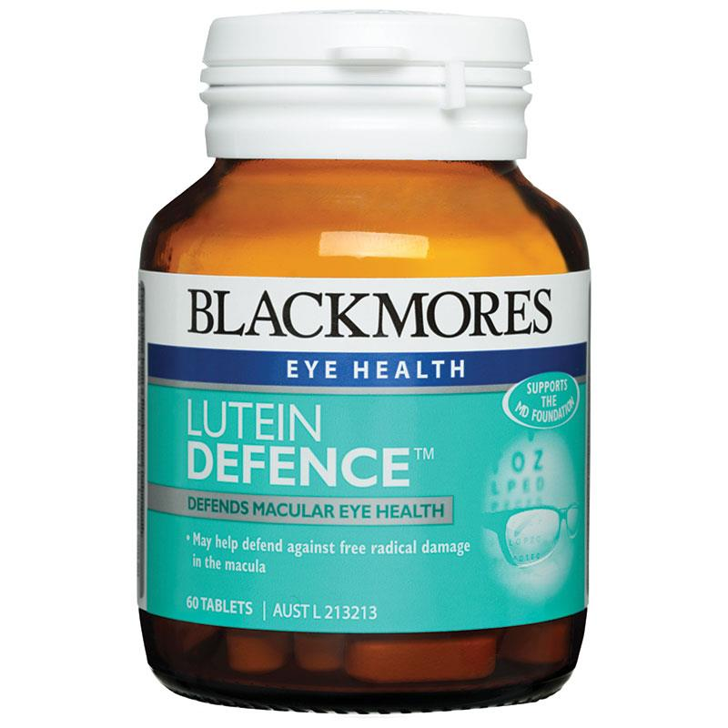 Blackmores Lutein Defence 60 Tablets Defends Macular Eye Health