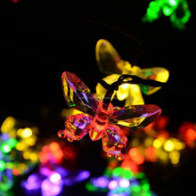 <span class=keywords><strong>Vakantie</strong></span> decoratie tuin verlichting 30 led solar butterfly string lights