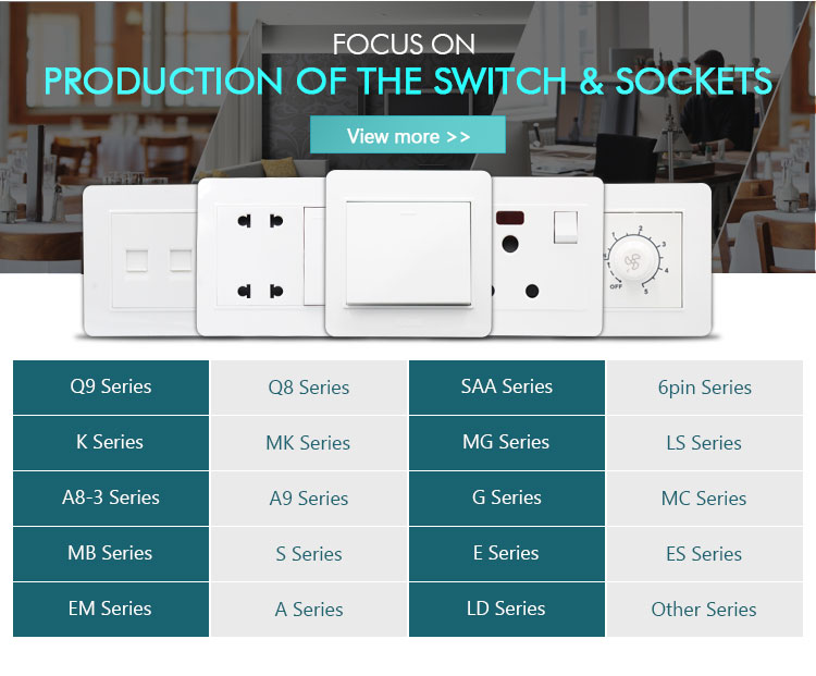 China 3 pin electrical multi- function socket power wall 3-pin multi switch socket