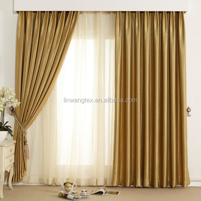 100 polyester new style curtains for hotel home office
