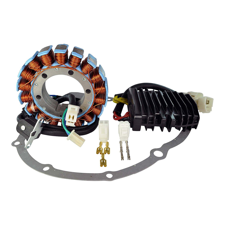 Kit Stator Made in Canada + Mosfet Voltage Regulator + Crankcase Cover Gasket For Suzuki Boulevard C90 VL 1500 2005-2009