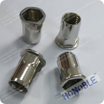 China Supplier 1/4-20 Threaded Inserts Stainless Steel Rivet Nut ...
