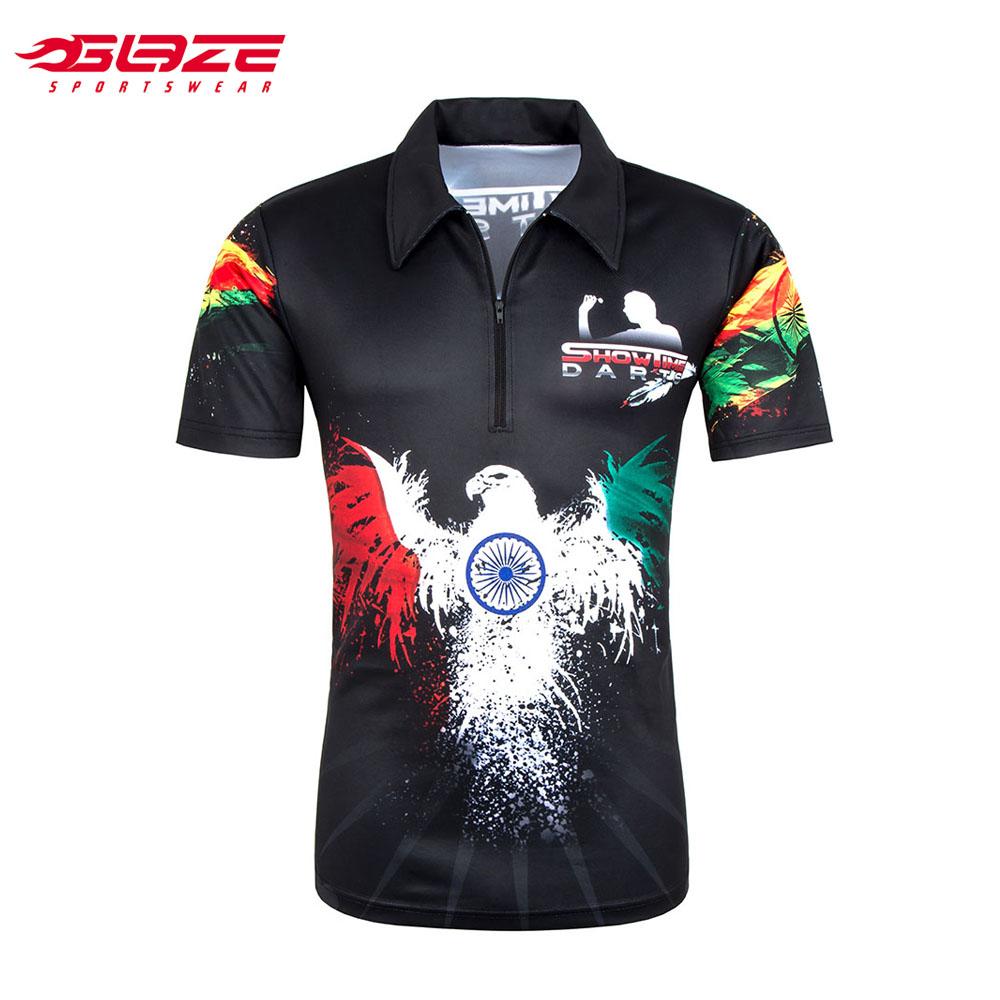 kauf verkauf Räumungspreise Farbbrillanz Benutzerdefinierte Team Sportswear Voller Digitaldruck Darts Polo Shirts