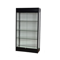 Lockable glass display cabinet/ used display cabinet with tempered glass