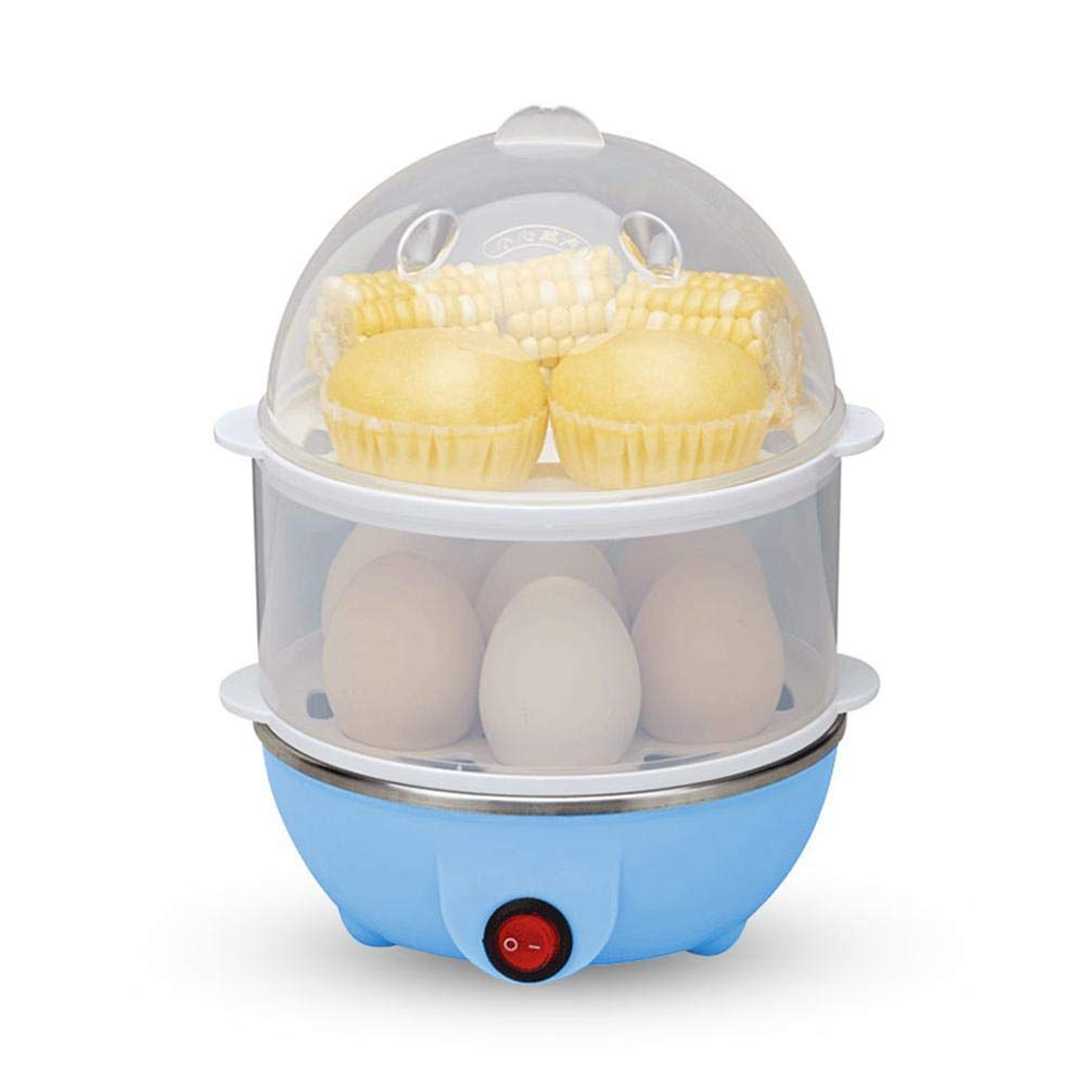 Teepao Electric Egg Cooker, Double Layer Egg Boiler for Hard Boiled Egg Steamer and Poacher Fast Egg Maker with Auto Shut Off, 14 Eggs Large Capacity