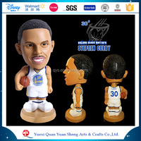 Stephen Curry bobble head customized NBA star player statue figurine