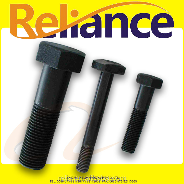 45# Black Finish Heat Treatment Hex Bolts With Hole