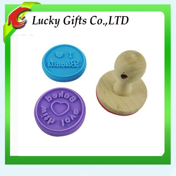 New Design Silicone Cake Stamp Cheap Cookie Biscuit Stamper