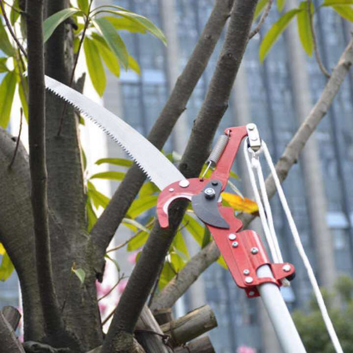 Hot Sale Extendable Scissors Pruning Tool Tall Tree Branch Lopper High-altitude Shears Picking Garden Trimmer Saw Branches prune