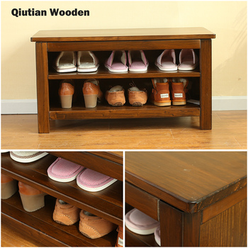 Multilayers Wooden Shoe Rack Pine Storage Cabinet Changing Stool Small Wood Product On
