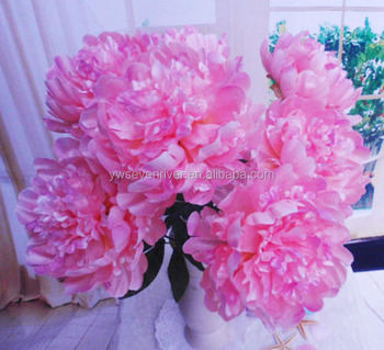 Home decoration flower 7 head large pink peonies silk flower buy home decoration flower 7 head large pink peonies silk flower mightylinksfo