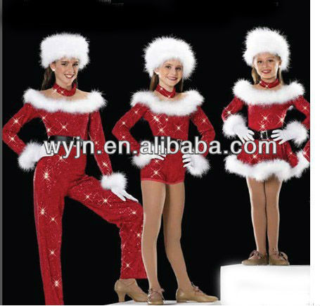 2013Hot sale Chiristmas dance wear-girls' dance costume-children and adults'dancewear