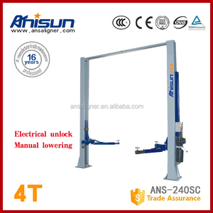 China hydraulic used 2 post car lift for sale without floor plate,4000kg