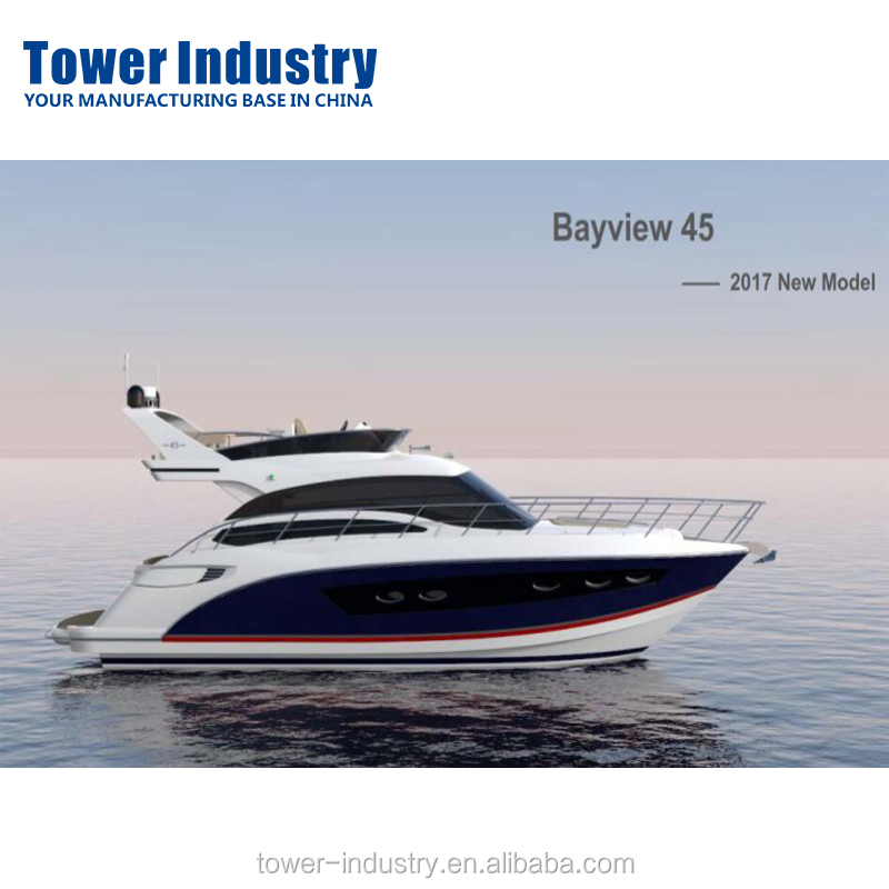 45ft Aluminium Yatch Luxury Boat , 22 knots New Model Party Luxury Yatch