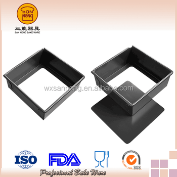 High Standard Al.alloy Hard Anodized Square Cake Pan With Removable Bottom