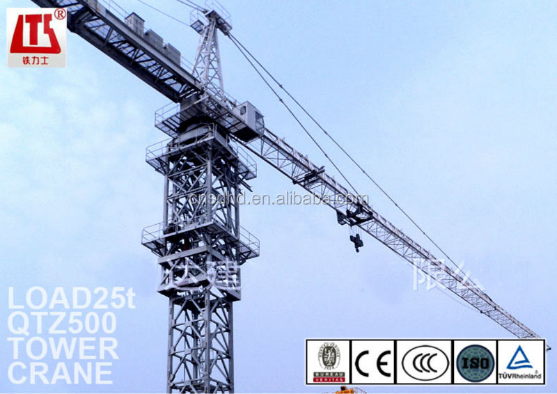 25t Lifting Capacity Tower Crane/ TC8031 Big Tower Crane/ QTZ500 Building Crane
