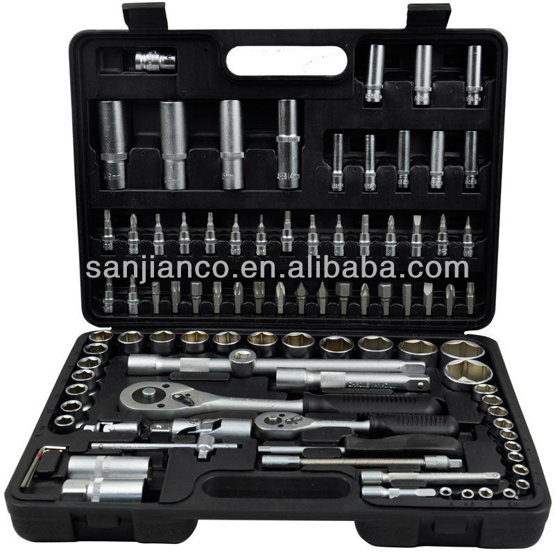 Hot sale 94pcs socket set hand tools(1/4'' & 1/2'')
