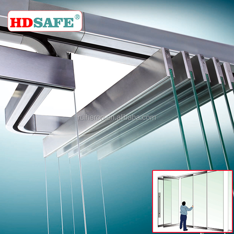 stainless steel glass folding stacking <strong>doors</strong> made by hardware fittings
