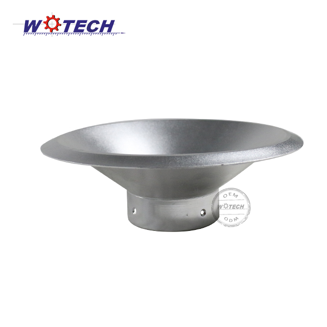 Custom metal spinning parts lamp for led lighting parts Made in China