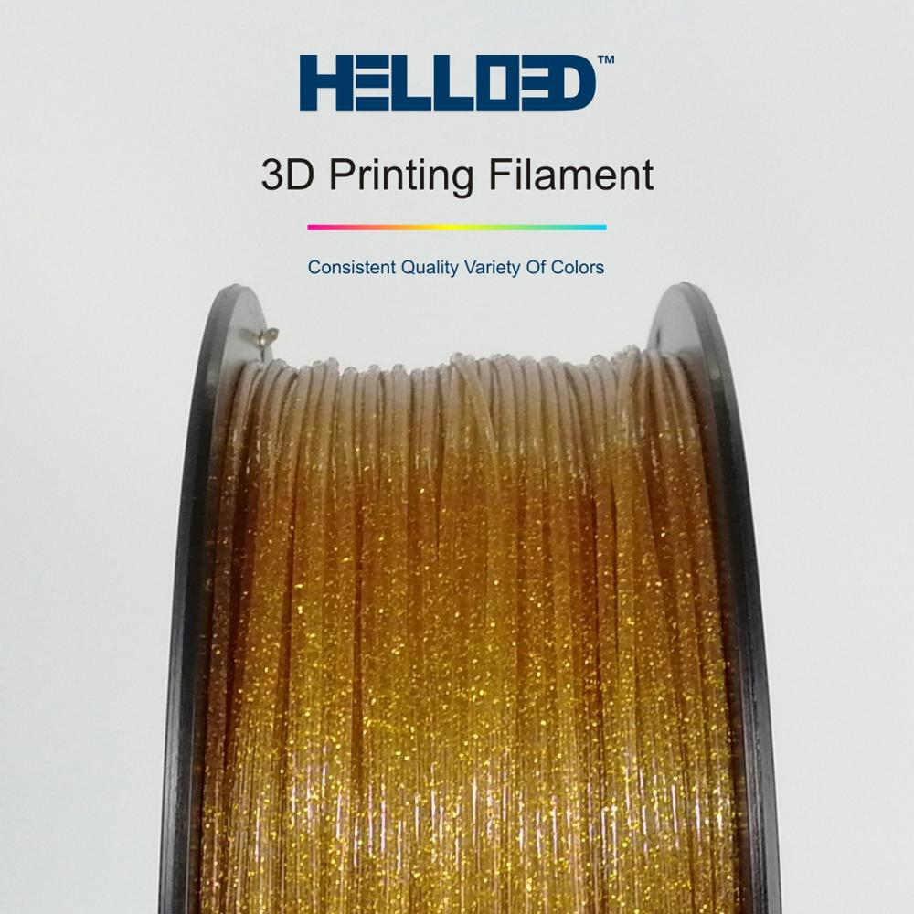 Neues Produkt 1.75mm Sparkle Gold PLA 3d Printer Filament