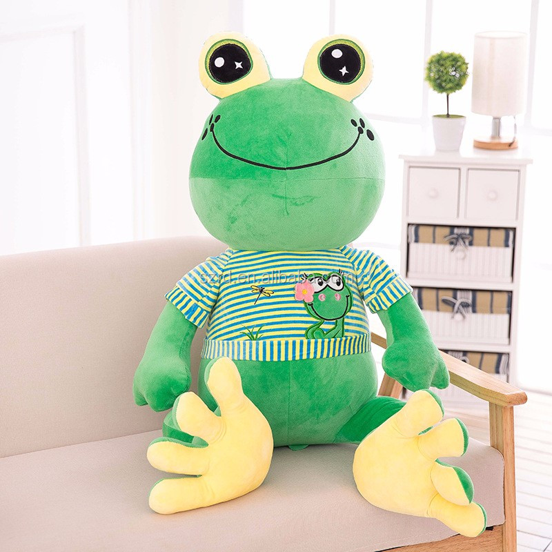best made toys stuffed animals/funny stuffed animals/green frog animal plush soft toys