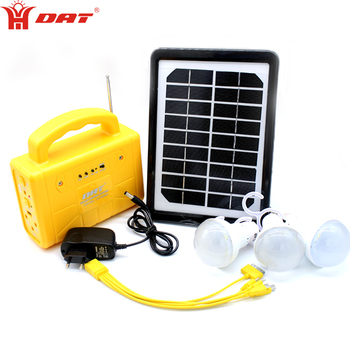 Multifunctional portable solar emergency light with FM/Radio