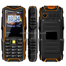 Long Standby 5200mAh Big Battery Phone and Power Bank Mobile Phone Dual SIM Card Anti-shock IP67 Waterproof Rugged Phone