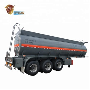 HYUAN 3 axles40CBM sulfuric acid stainless steel trailer/ sulfuric acid tank semi trailer