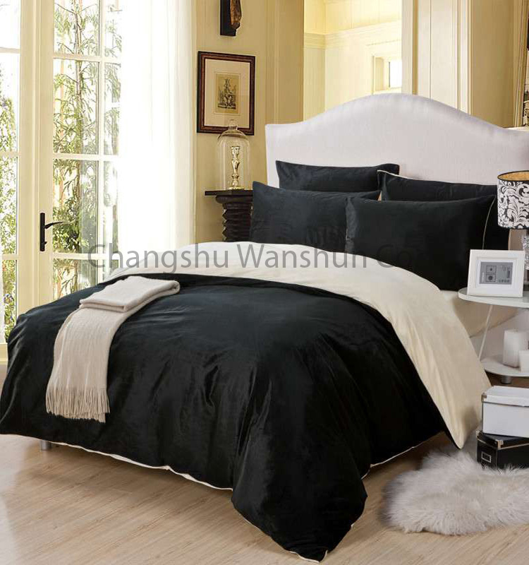 Newest Queen King Single Size black dubai bed sheet set